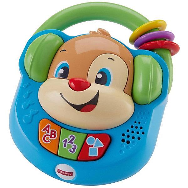 Интерактивная игрушка Fisher-Price Смейся и учись Плеер Учёного щенкаИнтерактивные игрушки для малышей<br>Характеристики:<br><br>• возраст: от 3 лет;<br>• материал: пластик;<br>• комплектация: плеер;<br>• размер: 32х19х5,5 см;<br>• вес: 266 гр; <br>• бренд: Fisher-Price.<br><br>Fisher-Price «Плеер Ученого Щенка» – это радость для любого ребенка. Щенок всегда готов сыграть танцевальную мелодию и повеселиться вместе с вашим малышом! Нажмите одну из трех разноцветных кнопок, чтобы проигрыватель «Смейся и Учись» обрадовал кроху яркой подсветкой, песенками и фразами, посвященными алфавиту, фигурам, цветам и числам. Благодаря удобной ручке маленькие любители музыки могут взять игрушку с собой!<br><br>Fisher-Price «Плеер Ученого Щенка» можно купить в нашем интернет-магазине.<br>Ширина мм: 320; Глубина мм: 190; Высота мм: 560; Вес г: 269; Возраст от месяцев: -2147483648; Возраст до месяцев: 2147483647; Пол: Унисекс; Возраст: Детский; SKU: 8068761;