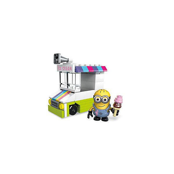Купить Конструктор Mega Construx Гадкий Я Машинка с мороженым, 87 деталей, Mattel, Китай, Унисекс