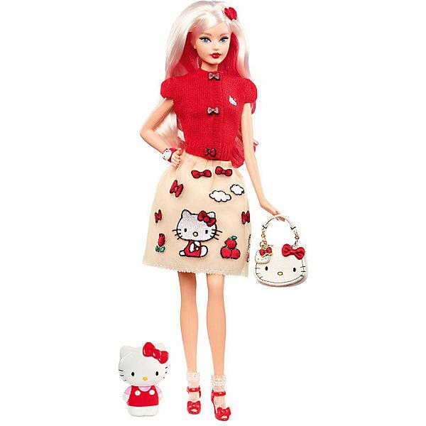 Коллекционная кукла Barbie Hello KittyКоллекционные куклы<br>Характеристики:<br><br>• возраст: от 3 лет;<br>• материал: пластик;<br>• комплектация: кукла, сумочка, фигурка, одежда;<br>• высота куклы: 30 см;<br>• размер: 31х21х10 см;<br>• вес: 1,4 кг; <br>• бренд: Mattel.<br><br>Коллекционная кукла Hello Kitty порадует девочек от 3 лет. Hello Kitty и куклы Barbie — прекрасное сочетание! Своим игривым, милым и модным образом, вдохновлённым фирменным красным бантом, Barbie отдаёт дань уважения Hello Kitty.<br><br>От крошечных пуговиц свитера в виде бантов до юбки, расшитой таким же узором, — всё в этом образе отражает очарование и нежность Hello Kitty, а также удачно сочетается с достоинствами кукол Barbie.  Среди аксессуаров сумочка Hello Kitty и фигурка.<br><br>Коллекционную куклу Hello Kitty можно купить в нашем интернет-магазине.<br>Ширина мм: 330; Глубина мм: 215; Высота мм: 100; Вес г: 1369; Возраст от месяцев: 144; Возраст до месяцев: 2147483647; Пол: Женский; Возраст: Детский; SKU: 8068810;
