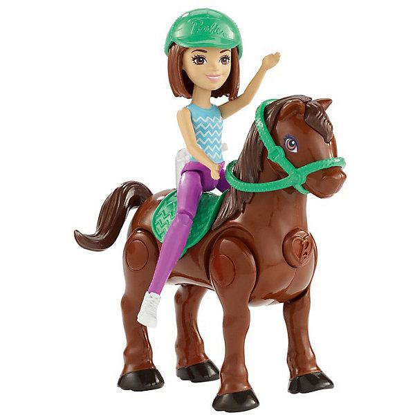 Купить Игровой набор с мини-куклой Barbie В движении Пони и кукла в зелёном шлеме, Mattel, Китай, Женский