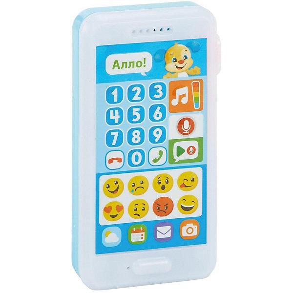 Купить Интерактивная игрушка Fisher-Price Смейся и учись Телефон Учёного щенка, Mattel, Индонезия, Унисекс