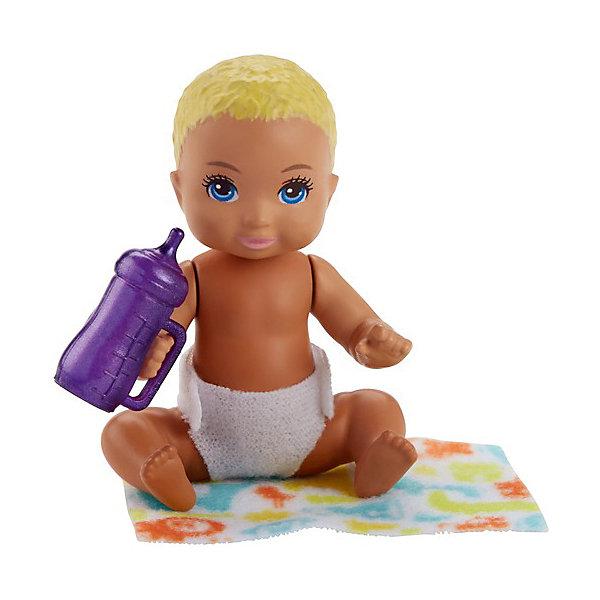 Mattel Мини-кукла Barbie Ребенок со светлыми волосами мини кукла barbie путешественники в ассортименте
