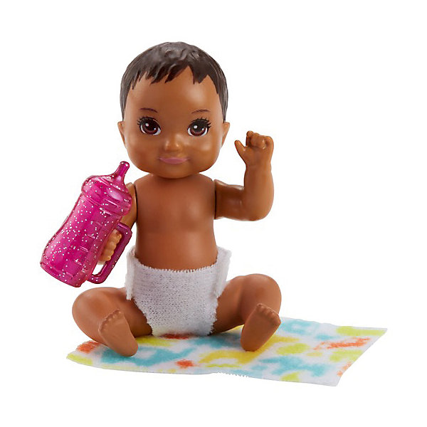 Mattel Мини-кукла Barbie Ребенок с тёмными волосами mattel кукла barbie робототехник барби с тёмными волосами