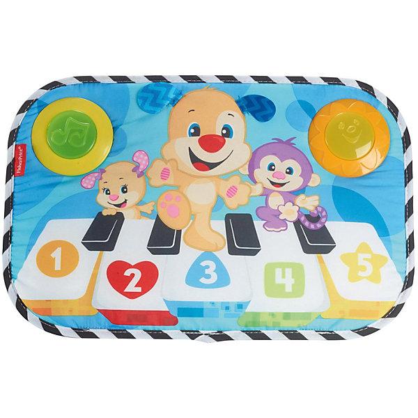 Развивающая игрушка-подвеска Fisher-Price ПианиноИгрушки для новорожденных<br>Характеристики:<br><br>• возраст: от 0 лет;<br>• материал: текстиль, пластик<br>• размер: 28х42х5 см;<br>• вес: 839 гр; <br>• бренд: Fisher-Price.<br><br>Fisher-Price «Пианино для кроватки» научит маленьких маэстро играть музыку целый день — лежа в колыбельке, ползая на животике или даже сидя! Три музыкальных режима позволяют игрушке развиваться вместе с ребенком: малыш сможет создавать мелодии в любом возрасте. Особенно детям нравится использование музыки при обучении счету, цветам и формам — а также яркая «светомузыка», играющая в нужном ритме, и мягкая фактура игрушки.<br><br>Fisher-Price «Пианино для кроватки» можно купить в нашем интернет-магазине.<br>Ширина мм: 280; Глубина мм: 420; Высота мм: 50; Вес г: 839; Возраст от месяцев: -2147483648; Возраст до месяцев: 2147483647; Пол: Унисекс; Возраст: Детский; SKU: 8068990;