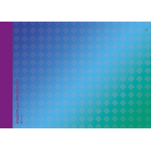 Канц-Эксмо Альбом для рисования Канц-Эксмо Гармония цвета, 40 листов альбом для рисования 40л а4 эксмо серия золотые маки на склейке