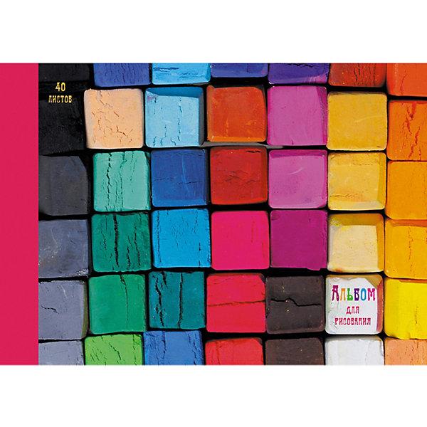 Канц-Эксмо Альбом для рисования Канц-Эксмо Яркая палитра, 40 листов альбом для рисования 40л а4 эксмо серия яркая мозаика на склейке