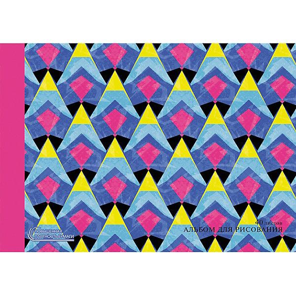 Канц-Эксмо Альбом для рисования Канц-Эксмо Красочная абстракция, 40 листов апплика альбом для рисования белый внедорожник 40 листов