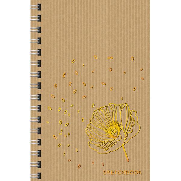 Канц-Эксмо Скетчбук Канц-Эксмо Хрупкий цветок А5, 80 листов канц эксмо тетрадь окошки 48 листов в клетку цвет зеленый