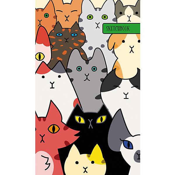 Канц-Эксмо Скетчбук Канц-Эксмо Собрание котов А5+, 80 листов эксмо жених призрак собрание мистических историй
