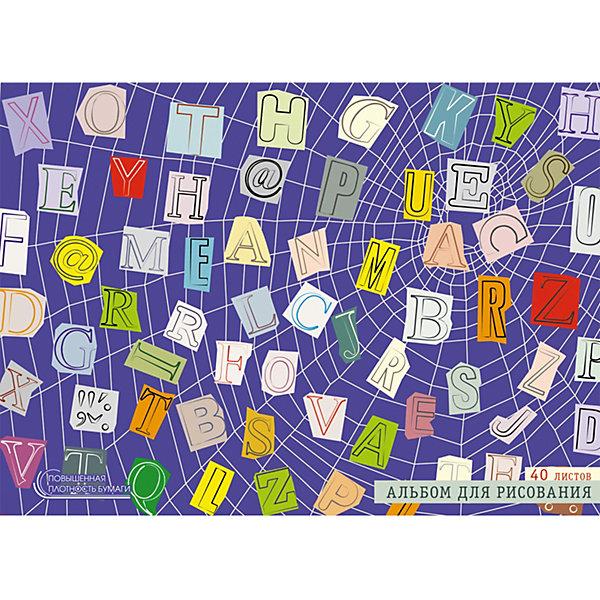 Канц-Эксмо Альбом для рисования Канц-Эксмо Паутина идей, 40 листов альбом планшет для профессионального рисования европа 50 листов гребень с1726 04