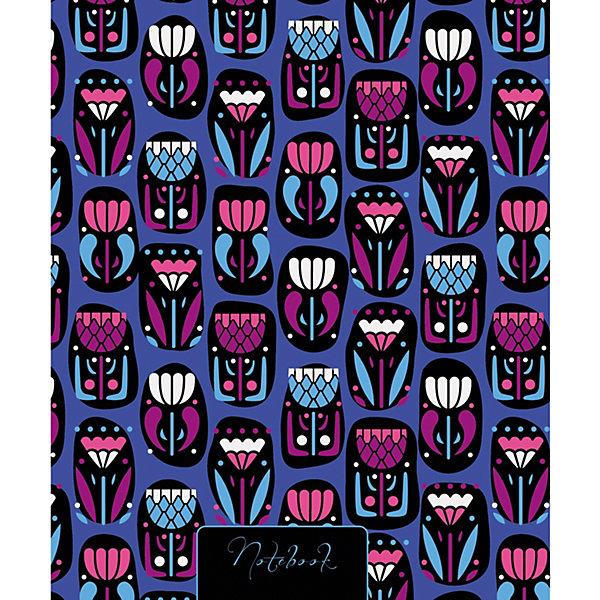 Канц-Эксмо Книга для записей Канц-Эксмо Волшебство цветов А5-, 120 листов книга для записей с поролоном 80 листов орнамент разноцветные зонтики канц эксмо