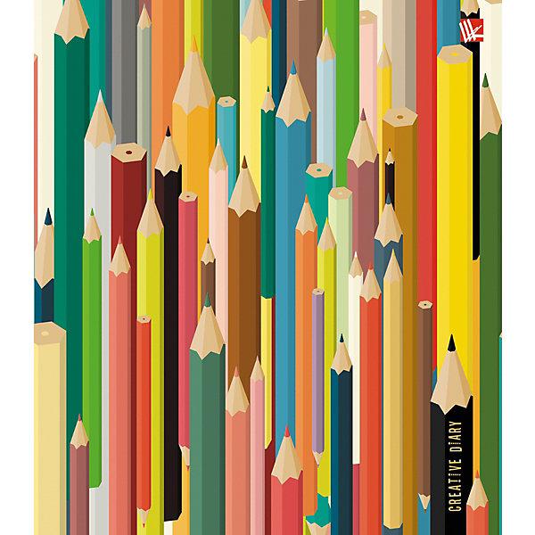 Канц-Эксмо Творческий ежедневник Канц-Эксмо Цветные карандаши А5, 128 листов, недатированный бизнес ежедневник listoff офисный стиль креатив бизнес а5 164 х 247 мм недатированный 128 листов
