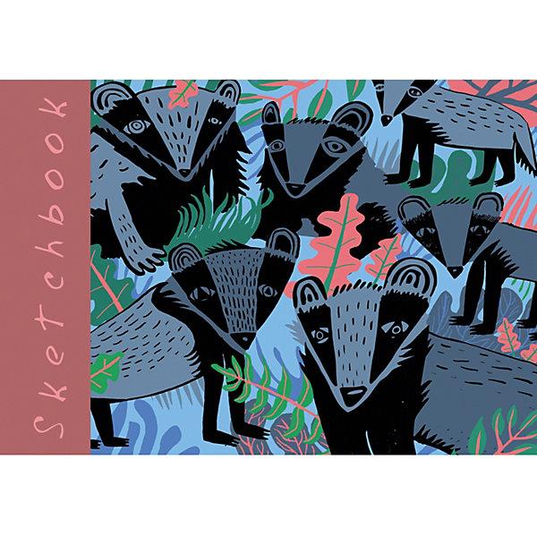 Канц-Эксмо Скетчбук Канц-Эксмо Лесное собрание А5+, 80 листов канц эксмо альбом для рисования канц эксмо гармония цвета 40 листов