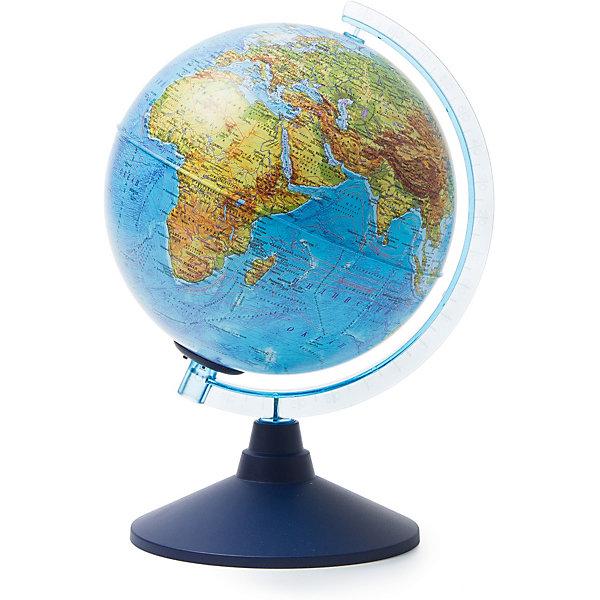 Глобус Земли Globen физический с подсветкой, 210ммГлобусы<br>Характеристики товара:<br><br>• возраст: от 6 лет;<br>• подсветка: от батареек;<br>• из чего сделана игрушка (состав): пластик;<br>• диаметр: 21 см.;<br>• cерия Классик Евро<br>• размер упаковки: 22х22х25 см.;<br>• вес: 700 гр.;<br>• упаковка: цветная картонная коробка.<br><br>Физический глобус с подсветкой пригодится не только школьнику, который начал изучать географию, но и дошколенку, который еще познает мир. <br><br>Глобус позволяет показать форму Земли, а на пластиковой сфере отлично видны все крупнейшие физические объекты планеты: континенты с переменчивым ландшафтом и климатическими условиями, океаны с теплыми и холодными течениями.<br><br>Яркая цветовая гамма точно укажет, где пустыня переходит в полупустыню, какова глубина моря в выбранном месте, где находится граница тектонических плит.<br><br>Для работы глобуса требуются батарейки АА пальчиковые, 2 шт., в комплект не входят.<br><br>Глобус Globen Земли физический с подсветкой можно купить в нашем интернет-магазине.<br>Ширина мм: 220; Глубина мм: 220; Высота мм: 250; Вес г: 700; Цвет: разноцветный; Возраст от месяцев: 72; Возраст до месяцев: 2147483647; Пол: Унисекс; Возраст: Детский; SKU: 8075089;