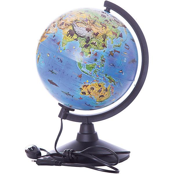 Globen Глобус Globen Зоогеографический (Детский) с подсветкой, 210мм