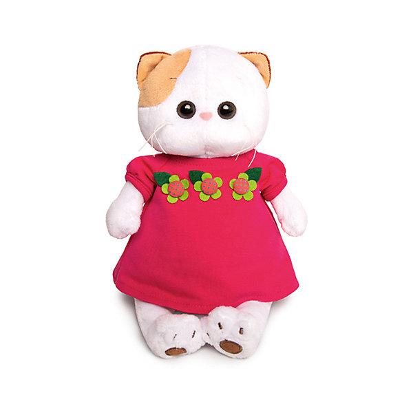 Мягкая игрушка Budi Basa Кошечка Ли-Ли в малиновом платье с цветочками, 24 смМягкие игрушки-кошки<br>Характеристики товара:<br><br>• возраст: от 3 лет;<br>• материал: текстиль, искусственный мех;<br>• высота игрушки: 24 см;<br>• размер упаковки: 27х16х14 см;<br>• вес упаковки: 430 гр.;<br>• страна производитель: Россия.<br><br>Мягкая игрушка «Ли-Ли в малиновом платье с цветочками» Budi Basa — очаровательная пушистая белоснежная кошечка с большими глазками и оранжевыми ушками. Ли-Ли одета в милое платье малинового цвета. <br><br>Игрушка выполнена из качественного безопасного материала, настолько приятного и мягкого, что ребенок будет брать с собой котенка в кроватку и спать в обнимку.<br><br>Мягкую игрушку «Ли-Ли в малиновом платье с цветочками» Budi Basa можно приобрести в нашем интернет-магазине.<br>Ширина мм: 270; Глубина мм: 160; Высота мм: 140; Вес г: 523; Цвет: белый; Возраст от месяцев: 36; Возраст до месяцев: 168; Пол: Унисекс; Возраст: Детский; SKU: 8076089;