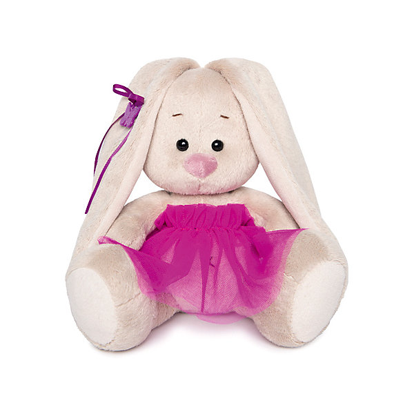Купить Мягкая игрушка Budi Basa Зайка Ми в пурпурной юбочке «фонарик», 15 см, Россия, бежевый, Унисекс