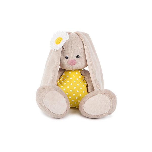 Budi Basa Мягкая игрушка Зайка Ми в жёлтом комбинезоне и с ромашкой, 18 см