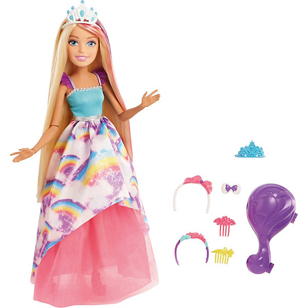 Mattel Большая кукла Barbie Dreamtopia Блондинка с длинными волосамми, 43 см