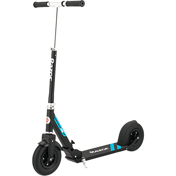 Самокат Razor A5 AIR , черныйСамокаты<br>Характеристики товара:<br><br>• возраст: от 7 лет;<br>• цвет: черный;<br>• из чего сделана игрушка (состав): металл, резина, пластик;<br>• тормоз: ножной;<br>• допустимый вес эксплуатации: 100 кг.;<br>• конструкция: складная;<br>• диаметр колес: 20,3 см.;<br>• размер упаковки: 76х13х32 см.;<br>• вес: 6,04 кг.<br><br>Самокат A5 Air идеальная модель для быстрого передвижения по городским улицам. <br><br>Самокат легко складывается в 3-х положениях, в сложенном виде имеет компактную форму для хранения и транспортировки. Лёгкий вес самоката достигается благодаря раме, выполненной из прочного анодированного алюминия.Прочная дека имеет противоскользящую поверхность, а для удобной парковки, предусмотрена подножка. Крыло переднего колеса защитит одежду от грязи и брызг, на заднем установлен надёжный тормоз-крыло.<br><br>Самокат Razor A5 AIR можно купить в нашем интернет-магазине.<br>Ширина мм: 760; Глубина мм: 130; Высота мм: 320; Вес г: 6040; Цвет: черный; Возраст от месяцев: 84; Возраст до месяцев: 2147483647; Пол: Унисекс; Возраст: Детский; SKU: 8076389;