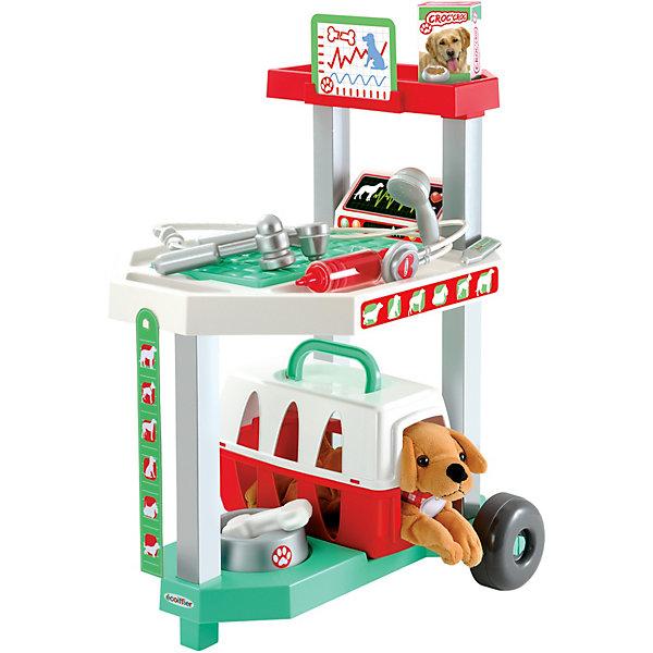 Купить Игровой набор Ecoiffier Тележка доктора-ветеринара с собачкой, 15 предметов, écoiffier, Франция, Унисекс