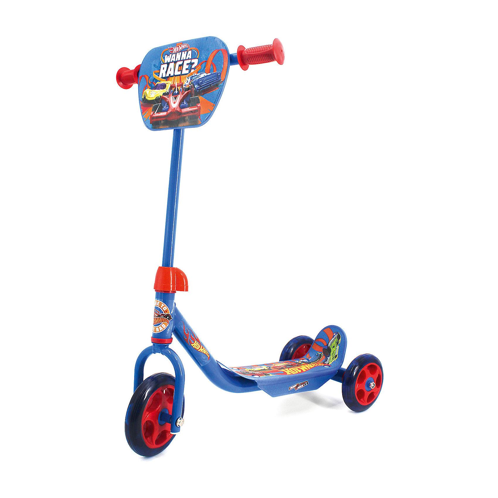 Фото 2 - Трехколесный самокат Next Hot wheels, синий синего цвета