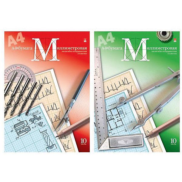 Альт Миллиметровая бумага А4, 10 листов
