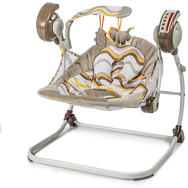 Baby Care Электрокачели Baby Care Flotter, жёлтые baby care baby care электрокачели riva с адаптером коричневый