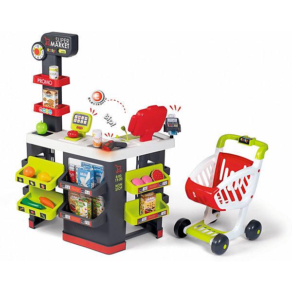Smoby Супермаркет с тележкой Smoby, 42 аксессуара