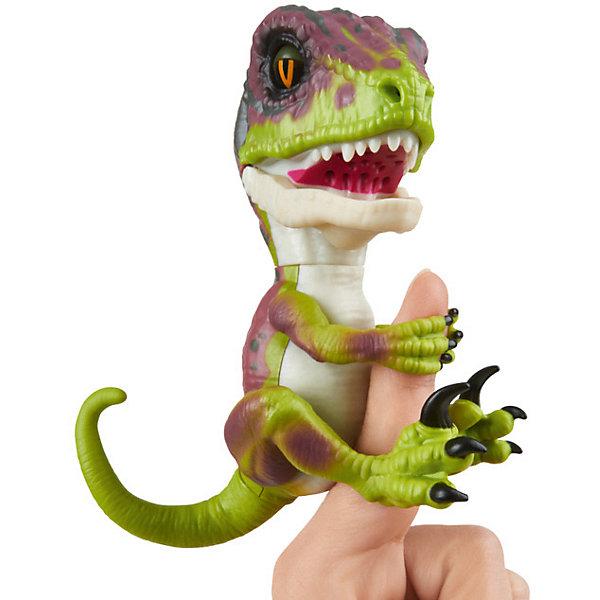 Купить Интерактивный динозавр Fingerlings, 12 см (зеленый с фиолетовым) WowWee, Китай, Унисекс