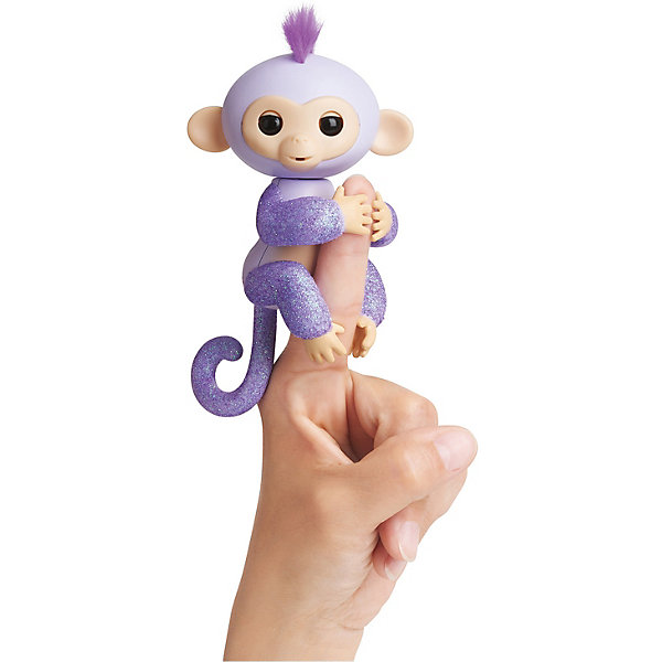 WowWee Интерактивная обезьянка Fingerlings Кики, 12 см (светло-пурпурная)