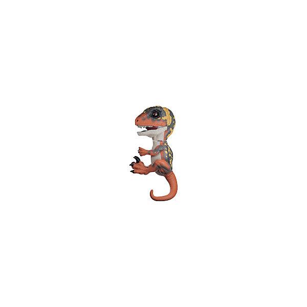 Интерактивный динозавр WowWee Fingerlings, 12 см (зеленый с оранжевым)