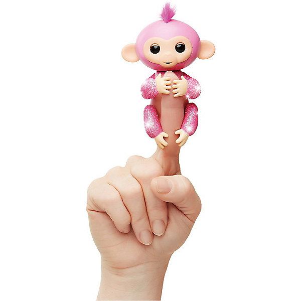 Купить Интерактивная обезьянка Fingerlings Роза, 12 см (розовая) WowWee, Китай, розовый, Унисекс