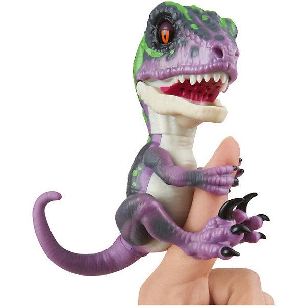 Купить Интерактивный динозавр Fingerlings, 12 см (фиолетовый с темно-зеленым) WowWee, Китай, Унисекс