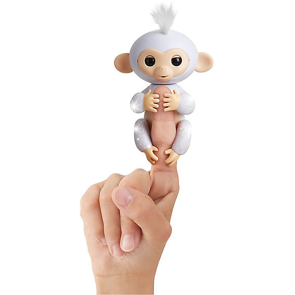 WowWee Интерактивная обезьянка Fingerlings Шугар, 12 см (белая) WowWee fingerlings 3763m интерактивная обезьянка шугар белая 12 см