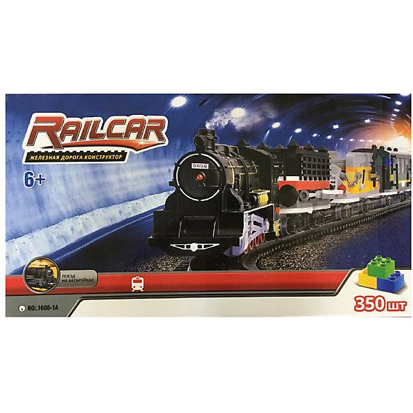 Железная дорога -конструктор с локомотивом Taigen, 350 деталейЖелезные дороги<br>Характеристики:<br><br>• возраст: 6+;<br>• материал: пластик, металл;<br>• размеры ж/д пути: 4 метра;<br>• габариты упаковки: 59х7х33 см;<br>• вес: 933 г.<br><br>В комплект входят: <br><br>• 350 деталей;<br>• локомотив;<br>• 2 вагона (собираются);<br>• элементы рельс.<br><br>Большой игровой набор включает в себя детали для сборки железной дороги и локомотива. К конструктору прилагается подробная иллюстрированная инструкция, которая поможет малышам с легкостью выполнить постройку для игры.<br><br>Сначала нужно собрать все детали и закрепить между собой. Готовая железная дорога выглядит очень реалистично. С ней можно разыграть множество интересных сюжетов.<br><br>Занятия развивают мелкую моторику, пространственное мышление, логику. Малыши научатся работать с инструкцией, проектировать, фантазировать. <br><br>Для работы понадобятся батарейки: 2 x AA (в комплект не входят).<br><br>Железную дорогу-конструктор с локомотивом (350 деталей), Taigen можно приобрести в нашем интернет-магазине.<br>Ширина мм: 590; Глубина мм: 70; Высота мм: 330; Вес г: 933; Цвет: черный; Возраст от месяцев: 72; Возраст до месяцев: 2147483647; Пол: Мужской; Возраст: Детский; SKU: 8267128;