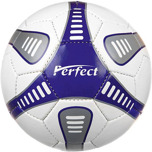 - Мяч футбольный Perfect №5, синий мяч футбольный munich precision 5 white 5w 87168