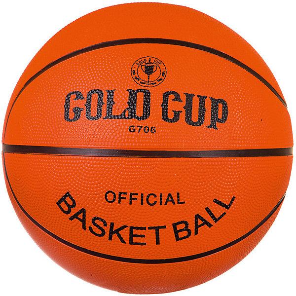 Мяч баскетбольный Gold Cup №7Мячи детские<br>Характеристики товара:<br><br>• возраст: от 6 лет;<br>• цвет: оранжевый;<br>• из чего сделана игрушка (состав): резина;<br>• диаметр: 25 см.;<br>• размер упаковки: 22х22х22 см.;<br>• вес: 650 гр.<br><br>Универсальный баскетбольный мяч Gold Cup прекрасно подойдет для игры и в зале, и на уличной площадке.<br><br>Он изготовлен из высококачественной резины, поэтому обладает большим запасом прочности, долговечен и имеет отличный отскок.<br>Благодаря рельефной поверхности мяч не выскальзывает из рук во время игры. <br>Яркий оранжевый цвет и классический дизайн делают мяч хорошо заметным во время игры. Модель большого размера оптимально подходит для подростков и взрослых.<br><br>Игра в мяч развивает у юных спортсменов многие полезные навыки, такие как меткость, быстрота реакции, смекалка, ловкость.<br><br>Мяч баскетбольный можно купить в нашем интернет-магазине.<br>Ширина мм: 220; Глубина мм: 220; Высота мм: 220; Вес г: 650; Возраст от месяцев: 48; Возраст до месяцев: 2147483647; Пол: Унисекс; Возраст: Детский; SKU: 8269382;