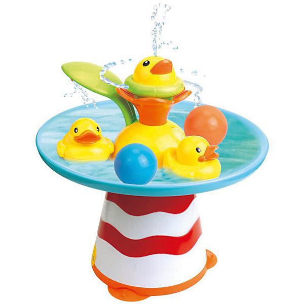 Музыкальный фонтан PicnMix УточкиИгрушки для ванной<br>Характеристики:<br><br>• игрушка для ванной;<br>• музыкальный блок;<br>• функциональный фонтан;<br>• несколько режимов с переключателем;<br>• тип батареек: 3 шт. типа АА;<br>• батарейки приобретаются отдельно;<br>• материал: пластик;<br>• размер игрушки: 90х45х69 см.<br><br>Игрушка для купания заинтересует деток в возрасте от 6 месяцев до 3 лет. Фонтанчик с уточками, которые плавают в специальном желобке. Различные водные эффекты и музыкальное сопровождение развлекают малыша в процессе купания. Ребенок может самостоятельно управлять игрушкой: лепесток-переключатель находится возле распылителя. В процессе игры развивается координация движений, образное мышление, понимание причинно-следственных связей. <br><br>Музыкальный фонтан PicnMix «Уточки» можно купить в нашем интернет-магазине.<br>Ширина мм: 200; Глубина мм: 215; Высота мм: 215; Вес г: 710; Возраст от месяцев: 144; Возраст до месяцев: 2147483647; Пол: Унисекс; Возраст: Детский; SKU: 8270144;