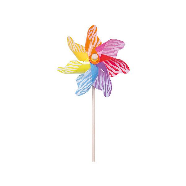 Ветрячок Fresh Trend Весёлые полоски, 55 смВоздушные игры<br>Характеристики товара:<br><br>• возраст: от 1,5 лет;<br>• из чего сделана игрушка (состав): пластик, дерево;<br>• размер упаковки: 22x10,5x55 см.;<br>• высота игрушки: 55 см.;<br>• вес: 56 гр.<br><br>Ветрячок «Веселые полоски» состоит из деревянной палочки и прилепленного к ней вращательного элемента, изготовленного из пластика.<br><br>Палочка выступает в роли рукоятки и имеет идеально гладкую поверхность.<br><br>Вращательный элемент украшен необычным узором, который при вращении становится еще более красивым и интересным.<br><br>Игрушка может работать не только в ветряный день, но и если на нее сильно подуть или, например, пробежаться с ней руках.<br><br>Ветрячок «Веселые полоски» можно купить в нашем интернет-магазине.<br>Ширина мм: 220; Глубина мм: 105; Высота мм: 550; Вес г: 56; Возраст от месяцев: 36; Возраст до месяцев: 2147483647; Пол: Унисекс; Возраст: Детский; SKU: 8271169;