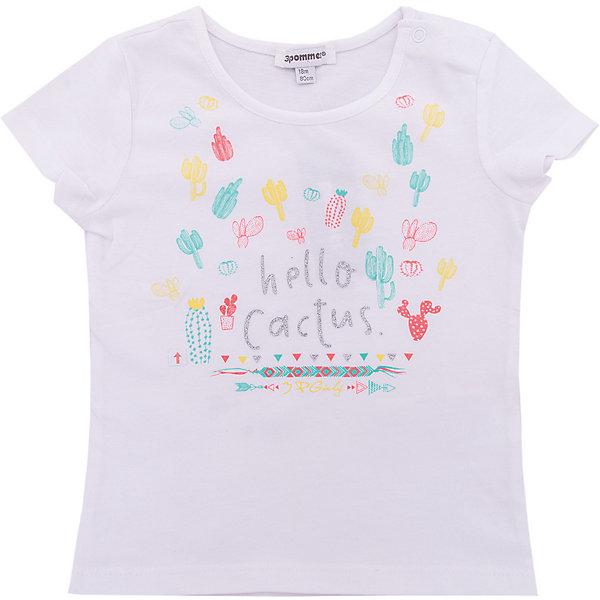 Футболка 3 Pommes для девочкиФутболки, поло и топы<br>Характеристики товара:<br><br>• цвет: белый<br>• состав ткани: 95% хлопок, 5% эластан<br>• сезон: лето<br>• застежка: кнопки<br>• короткие рукава<br>• страна бренда: Франция<br><br>Трикотажная футболка для детей стильно смотрится благодаря оригинальному принту с блестками. Белая футболка для ребенка от популярного европейского бренда 3 Pommes - универсальная базовая вещь. Материал этой детской футболки - преимущественно легкий натуральный хлопок, который создает комфортные условия для тела. <br><br>Футболку 3 Pommes (3 Поммис) для девочки можно купить в нашем интернет-магазине.<br>Ширина мм: 199; Глубина мм: 10; Высота мм: 161; Вес г: 151; Цвет: белый; Возраст от месяцев: 12; Возраст до месяцев: 18; Пол: Женский; Возраст: Детский; Размер: 86,80,74,98,92; SKU: 8274043;
