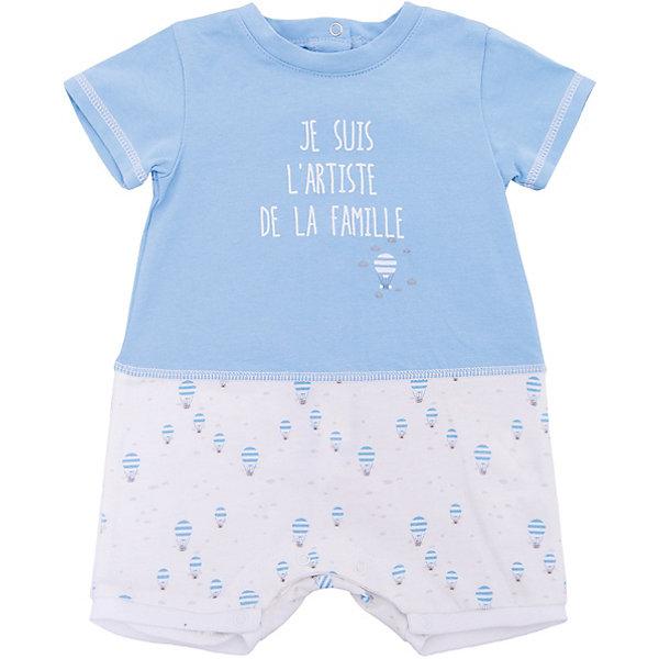 Комбинезон 3 Pommes для мальчикаКомбинезоны<br>Характеристики товара:<br><br>• цвет: голубой<br>• состав ткани: 100% хлопок<br>• сезон: лето<br>• застежка: кнопки<br>• короткие рукава<br>• страна бренда: Франция<br><br>Симпатичный комбинезон для ребенка от французского бренда 3 Pommes позволит ребенку выглядеть модно и чувствовать себя комфортно. Детский комбинезон сделан из комбинированного материала - дышащего хлопка, который не вызывает аллергии, и натурального льна. Комбинезон для детей украшен небольшим принтом. <br><br>Комбинезон 3 Pommes (3 Поммис) для мальчика можно купить в нашем интернет-магазине.<br>Ширина мм: 356; Глубина мм: 10; Высота мм: 245; Вес г: 519; Цвет: голубой; Возраст от месяцев: 0; Возраст до месяцев: 6; Пол: Мужской; Возраст: Детский; Размер: 60,80,74,68; SKU: 8274280;