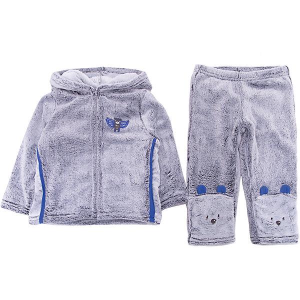 Спортивный костюм 3pommes для мальчикаКомплекты<br>Характеристики товара:<br><br>• цвет: серый<br>• комплектация: толстовка, брюки<br>• состав ткани: 100% полиэстер / 100% хлопок<br>• сезон: демисезон<br>• особенности модели: с капюшоном<br>• застежка: молния<br>• длинные рукава<br>• талия: резинка<br>• страна бренда: Франция<br><br>Стильный спортивный костюм для детей украшен симпатичным декором - аппликациями, он разработан специально для мальчиков. Удобный спортивный костюм для ребенка от популярного бренда 3 Pommes из Франции - это толстовка и брюки. Спортивный костюм сделан из пушистого материала, подкладка - из дышащего натурального хлопка, дополнен молнией для удобства одевания. <br><br>Костюм спортивный 3 Pommes (3 Поммис) для мальчика можно купить в нашем интернет-магазине.<br>Ширина мм: 247; Глубина мм: 16; Высота мм: 140; Вес г: 225; Цвет: серый; Возраст от месяцев: 12; Возраст до месяцев: 15; Пол: Мужской; Возраст: Детский; Размер: 80,86,74,68,60; SKU: 8274510;