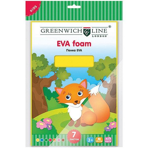Greenwich Line Набор для аппликации Greenwich Line «Пенка EVA» А4, 7 листов greenwich line набор для рисования скетча greenwich line жирафы