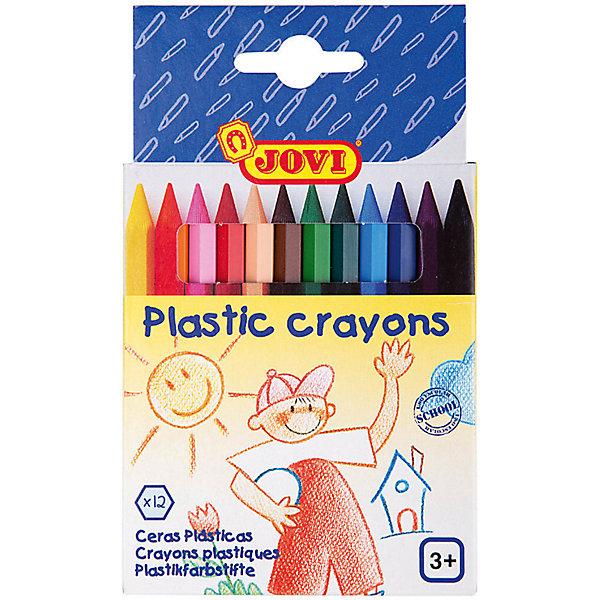JOVI Пластиковые карандаши JOVI, 12 цветов карандаши восковые мелки пастель jovi карандаши 12 цветов шестигранные