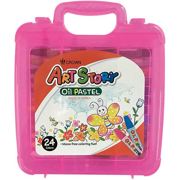 Пастель масляная Crown, 24 цветаПастель Уголь<br>Характеристики:<br><br>• возраст: от 3 лет;<br>• тип: масляная;<br>• в комплекте: 24 шт.;<br>• форма сечения: круглая, заточено;<br>• цвет: мульти;<br>• обертка: индивидуальная;<br>• упаковка: пластик;<br>• вес упаковки: 517 г;<br>• размер упаковки: 23х19х3,6 см;<br>• страна бренда: Корея.<br><br>Пастель масляная Crown (Кроун), 24 цвета - это яркие и насыщенные цвета, удобное и мягкое использование, безопасно для детей ввиду содержания пищевых пигментов.<br><br>Богатая гамма при смешивании цветов, не теряет насыщенность цвета. Предусмотрена для использования на бумаге, картоне, камне и деревянных поверхностях, не крошится. Набор способствует развитию творческих способностей, фантазии и воображения.<br><br>Пастель масляную Crown (Кроун), 24 цвета можно купить в нашем интернет-магазине.<br>Ширина мм: 230; Глубина мм: 190; Высота мм: 36; Вес г: 517; Возраст от месяцев: 36; Возраст до месяцев: 2147483647; Пол: Унисекс; Возраст: Детский; SKU: 8276456;
