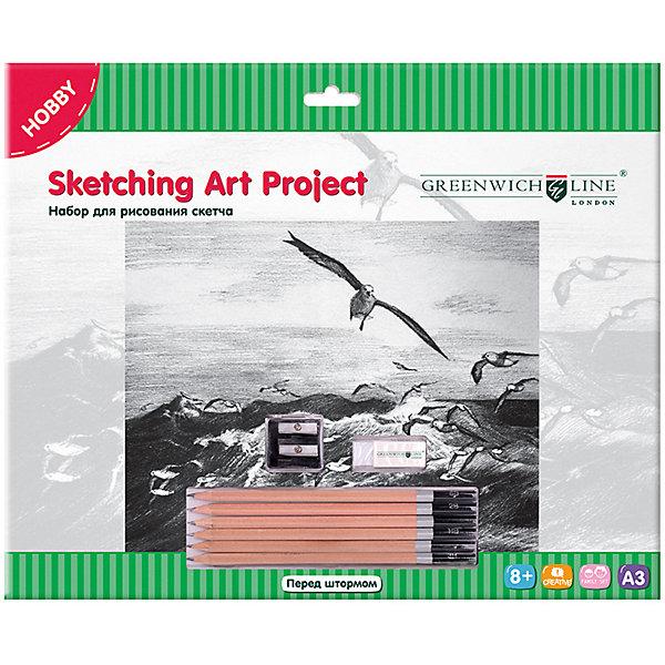 Купить Набор для рисования скетча Greenwich Line «Перед штормом», Китай, Унисекс