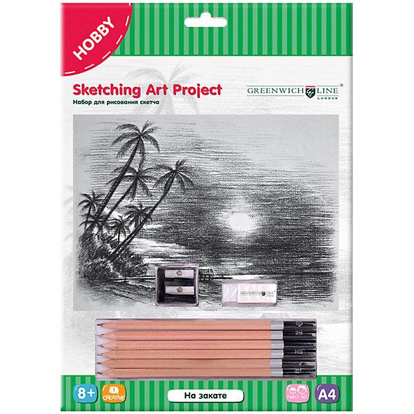 Купить Набор для рисования скетча Greenwich Line «На закате», Китай, Унисекс