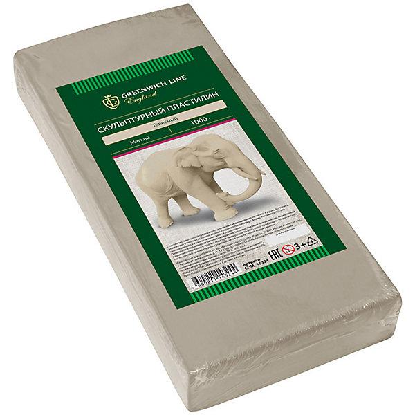 Скульптурный пластилин Greenwich Line, телесныйПластилин<br>Характеристики:<br><br>• возраст: от 3 лет;<br>• тип: пластилин скульптурный;<br>• цвет: телесный;<br>• общая масса пластилина: 1 кг;<br>• плотность: мягкий;<br>• упаковка товара: полиэтиленовый рукав;<br>• размер упаковки: 16,5х0,85х0,25 см;<br>• вес упаковки: 1,1 кг;<br>• страна бренда: Великобритания.<br><br>Скульптурный пластилин Greenwich Line (Гринвич Лайн) предназначен для создания предметов интерьера, аппликаций и картин. Не имеет запаха, не токсичен. Пластилин держит форму, устойчив к перепадам температуры, не оставляет пятен и не липнет к рукам.<br><br>Скульптурный пластилин Greenwich Line (Гринвич Лайн), телесный можно купить в нашем интернет-магазине.<br>Ширина мм: 165; Глубина мм: 85; Высота мм: 25; Вес г: 1100; Возраст от месяцев: 36; Возраст до месяцев: 2147483647; Пол: Унисекс; Возраст: Детский; SKU: 8276474;