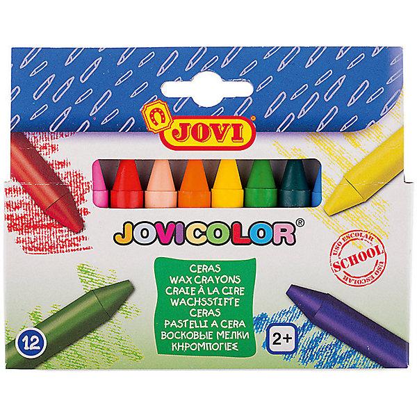 Восковые мелки JOVI, 12 цветовМасляные и восковые мелки<br>Характеристики:<br><br>• возраст: от 2 лет;<br>• тип: восковые;<br>• в комплекте: 12 шт.;<br>• количество цветов: 12;<br>• форма корпуса: фигурная;<br>• длина 75 мм;<br>• диаметр корпуса: 11 мм;<br>• упаковка товара: картонная коробка с европодвесом;<br>• размер упаковки: 15,5х13х0,13 см;<br>• вес упаковки: 107 гр.;<br>• страна бренда: Испания.<br><br>Восковые мелки JOVI (Джови), который рисуют на любой бумаге, кроме с глянцевой поверхности. Не пачкают руки, не липнут, не выпотевают, не имеют запаха, не ломаются при падении, стираются ластиком.<br><br>Изготавливаются из натуральных растительных компонентов, гиппоаллергенны, не содержат глютен. Палитра из двенадцати цветов: желтый, красный, телесный, зеленый, голубой, синий, фиолетовый, оранжевый, розовый, темно-зеленый, коричневый, черный.<br><br>Восковые мелки JOVI (Джови), 12 цветов можно купить в нашем интернет-магазине.<br>Ширина мм: 155; Глубина мм: 130; Высота мм: 13; Вес г: 107; Возраст от месяцев: 24; Возраст до месяцев: 2147483647; Пол: Унисекс; Возраст: Детский; SKU: 8276494;